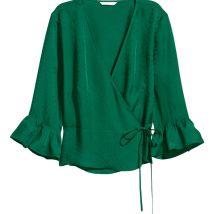 green wrap top