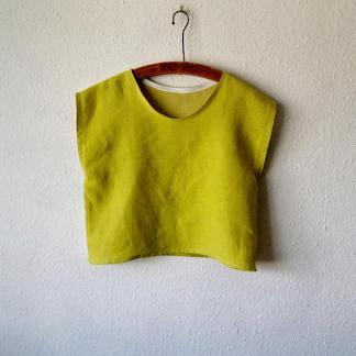 linen crop top